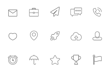 miscellaneous: Miscellaneous icons line
