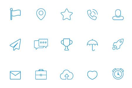 miscellaneous: Miscellaneous icons blue line