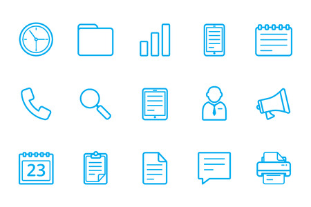rummage: office icon line