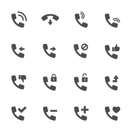 connection block: Calls icon black Illustration