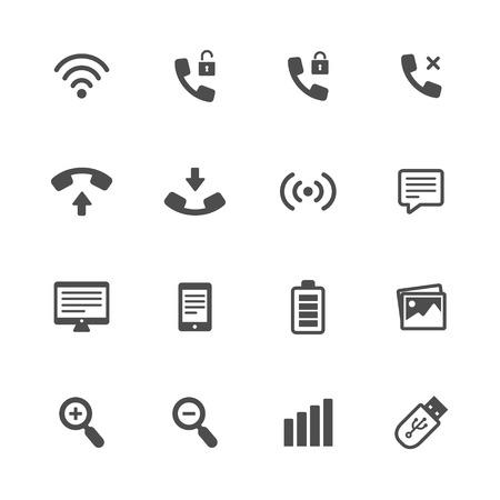 unblock: tehnology icon black Illustration