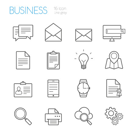 bussines: bussines line icons grey