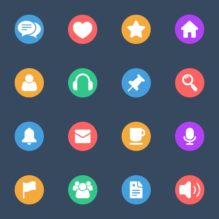 noisiness: Miscellaneous icon flat Illustration
