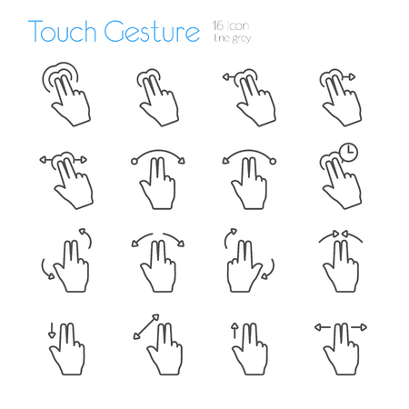 touch: Touch Gesture Icons Line Set