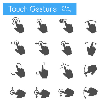 flick: Touch Gesture Icons Flat