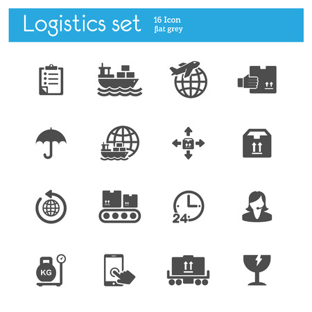 recipient: logistics flat icons set 3
