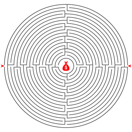 mental confusion: rebus labyrinth vector play line gray
