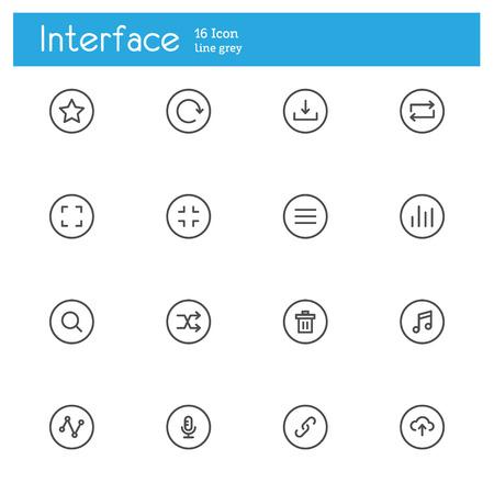control panel: Control Panel icons line, Interface line iicon