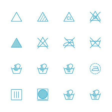 laundry line: Laundry line blue icons , Dry blue icons Illustration