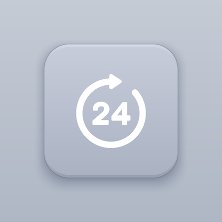 hours: 24 hours icon