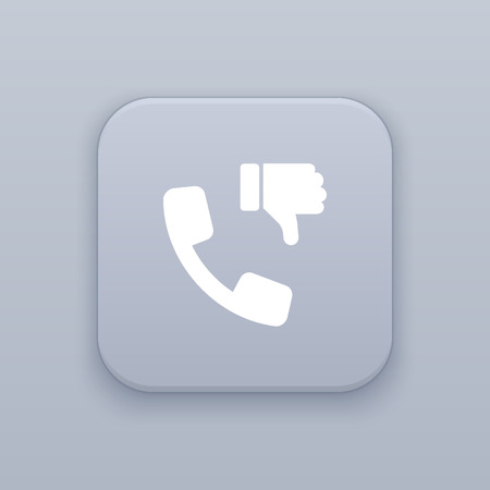 disapprove: DIslike the contact icon Illustration