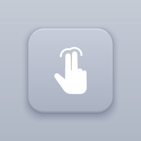 double tap: Double tap finger icon