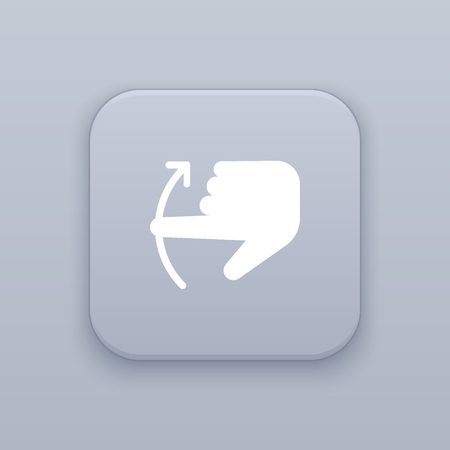 scrolling: Gesture scrolling up icon Illustration