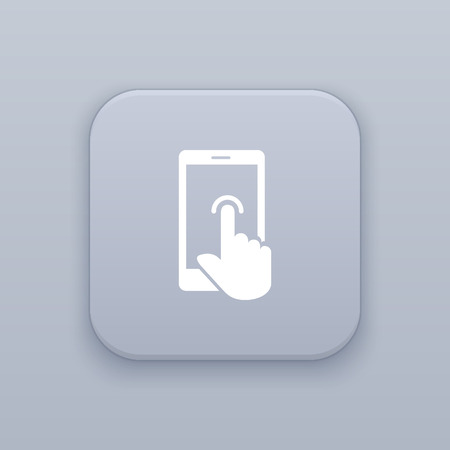 touch: Touch screen icon Illustration