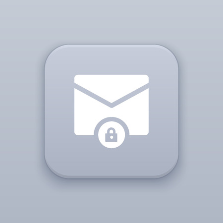 unsolicited: Block a e-mail vector icon Illustration
