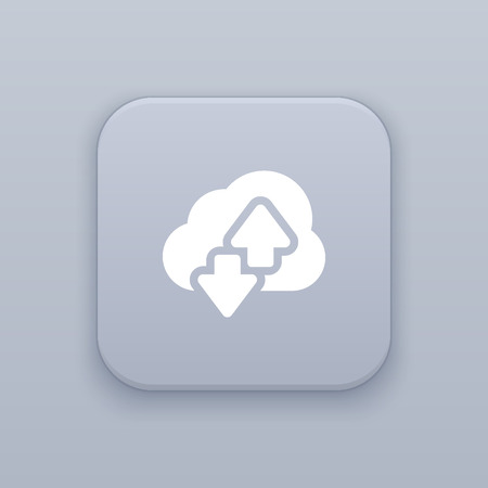 download icon: Cloud download icon, hosting icon