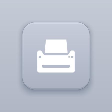ink jet: Printer icon, printout icon