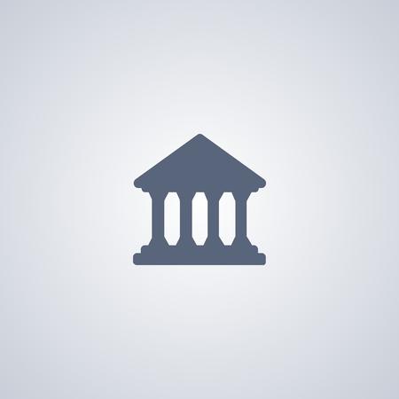 Court building icon, Bank icon Banco de Imagens - 70777681