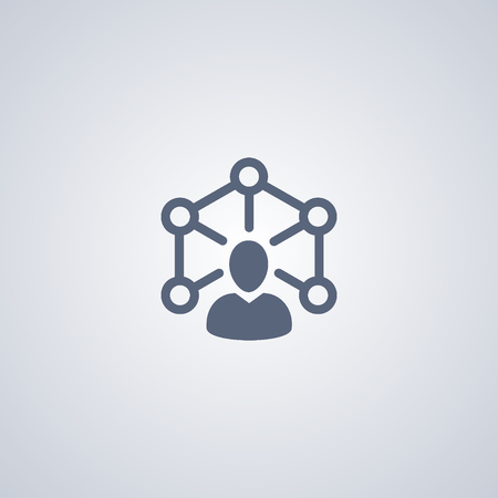 Teamwork icon, networking people icon