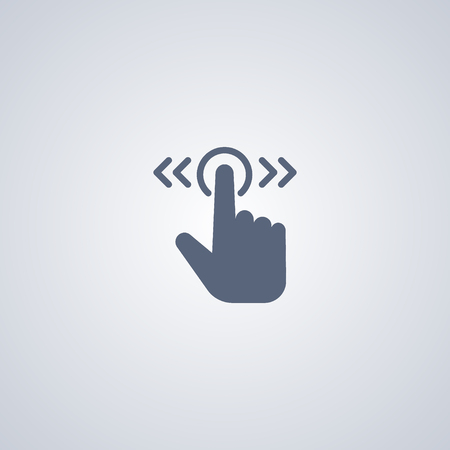 trackpad: Gesture touch slide icon