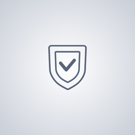 protection icon: protection line icon