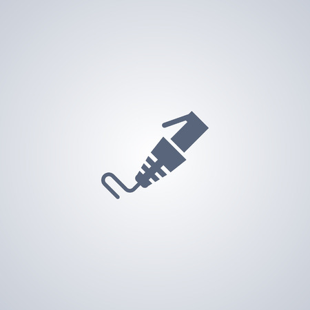 cord: Internet cable icon, patch cord icon Illustration