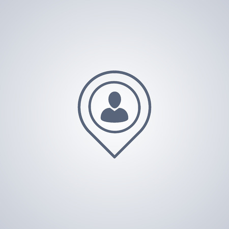 fraternity: locate people icon vector Illustration