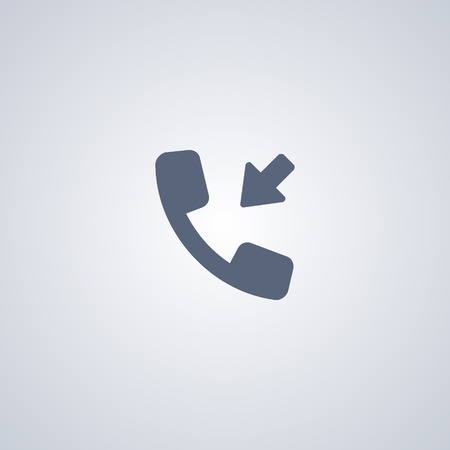 Incoming call vector icon