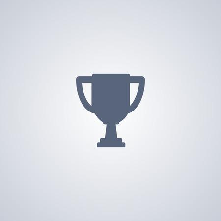 Cup vector icon, Trophy vector icon
