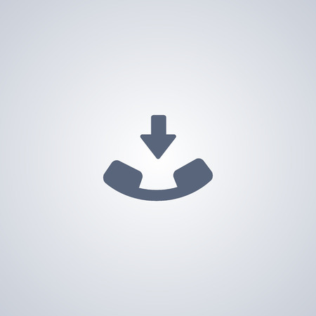 Incoming call flat icon