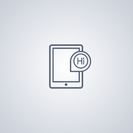touchpad: Tablet icon, gadget icon Illustration