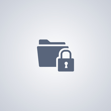 locked: Locked folder vector icon Illustration