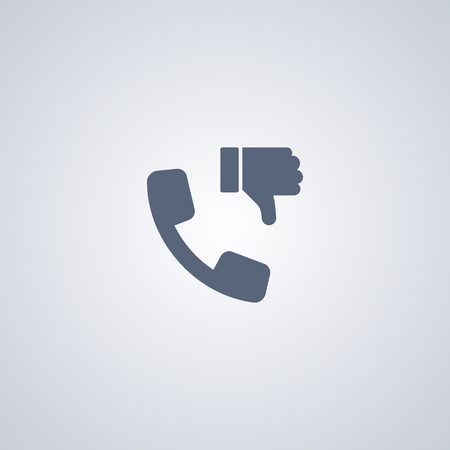 disapprove: DIslike contact vector icon Illustration