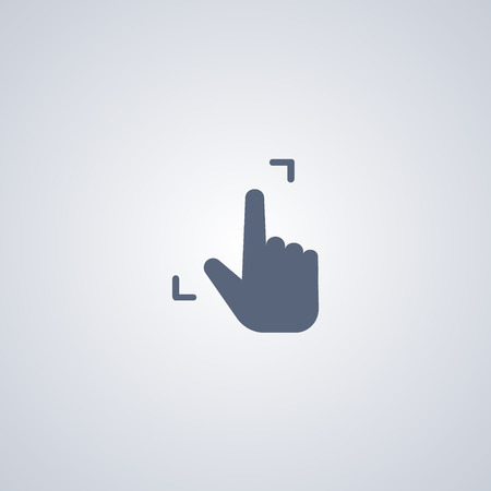 Gesture expand vector icon
