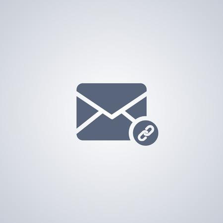 attach: Attach vector icon, Assign e-mail vector icon