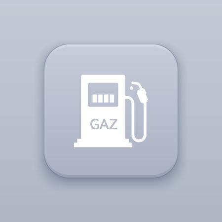 benzine: Gas vector icon, Benzine vector icon