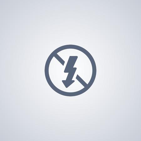 denial: No flash vector icon Illustration