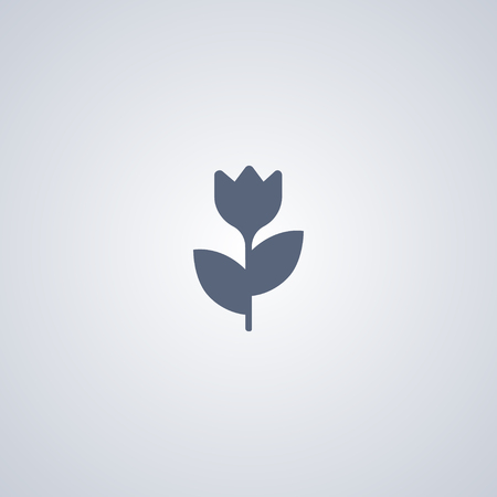 Macro vector icon, Flower vector icon
