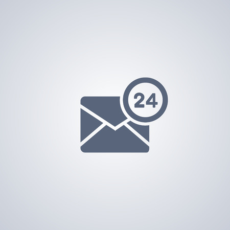 Hour-mail vector icon