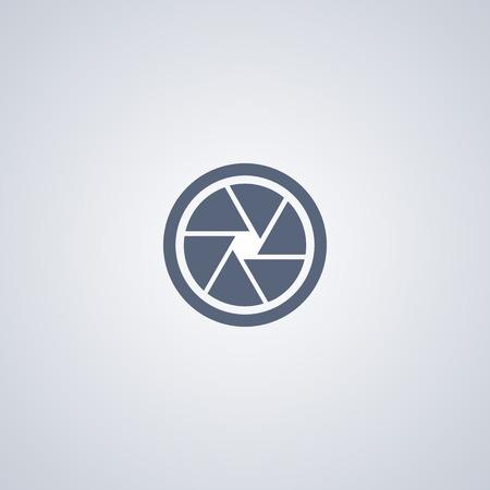 Focus vector icon, Diaphragm vector icon Ilustração