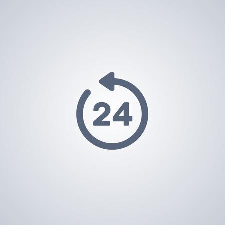 Clock 24 vector icon