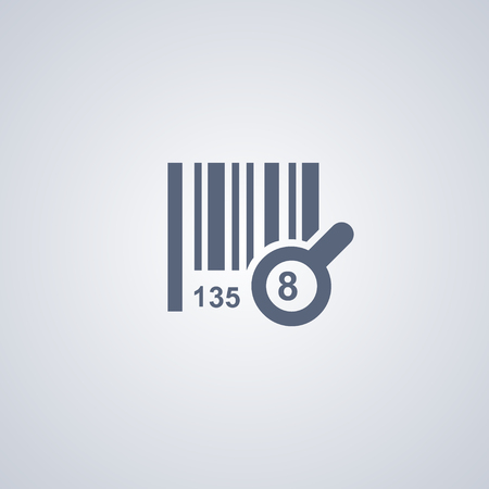 Search for bar code vector icon