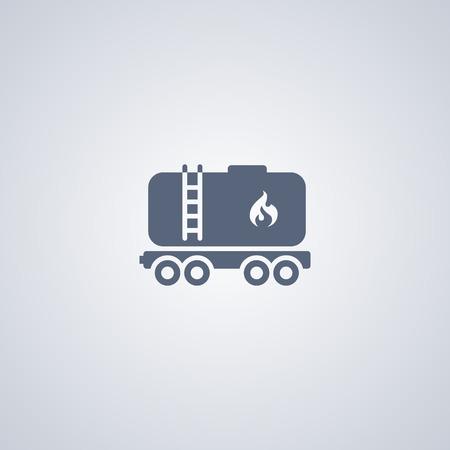 Railroad oil petroleum tank icon. Gasoline transportation Ilustração