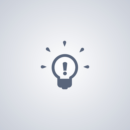 Bulb vector icon, Light bulb vector icon