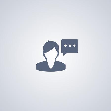 Speakervector icon, Man speak vector icon Ilustração