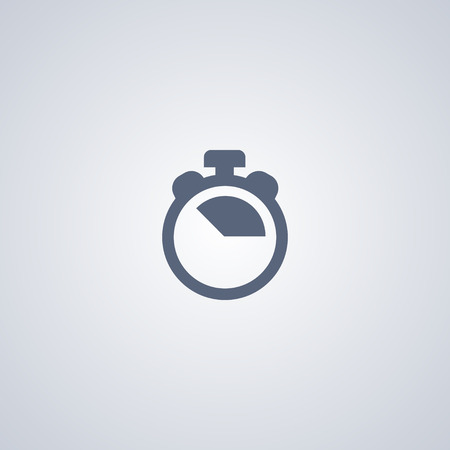 Stopwatch vector icon, Timer vector icon
