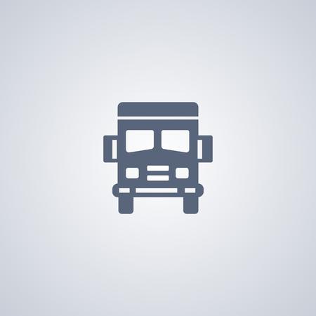 Truck vector icon, Transport vector icon Ilustração