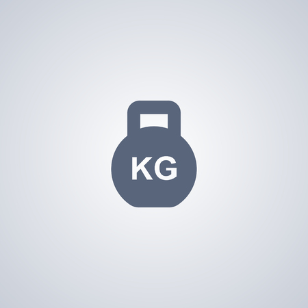 Weight vector icon, Mass vector icon Ilustração