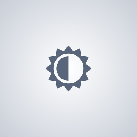 Brightness and contrast vector icon