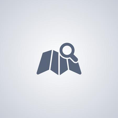 Search for a location vector icon Ilustração